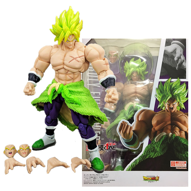 SHF Dragon Ball Broli Action Figure Toys Super Saiyan Broli Dolls With Movable Joints Changing Face Accessories Collectible Gift