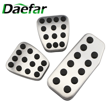 Daefar Non slip Fit Foot Pedal Pad Cover Gas Brake Pedals Fit For Honda FIT 2005   2020 Driver Pedals Replacement Kits