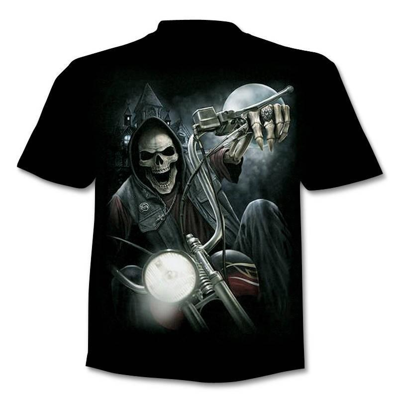 T Shirt 3D Skull Summer Horror Shirt Male Summer Tee Quality Camiseta Short Sleeve O-neck Tops Sell Hip Hop Shirts