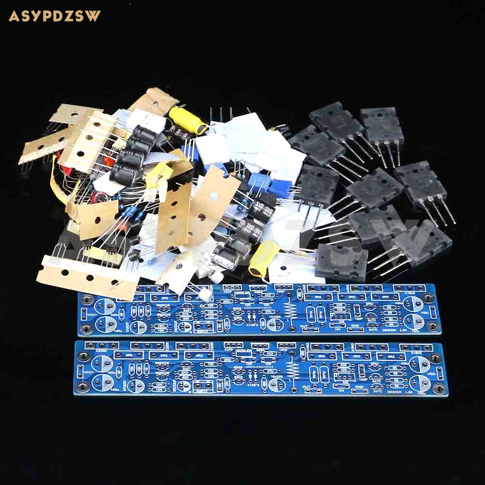NEW 2 channel L10 Single differential single ended voltage power amplifier DIY Kit A1943 C5200