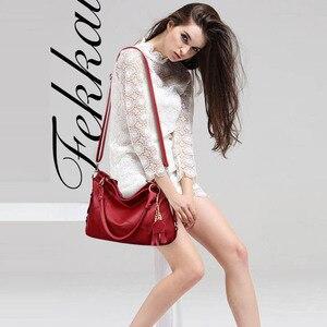 Image 3 - Fashion large tote shoulder bag women A4 leather handbags tassel big crossbody hand bags ladies red purple creamy white beige