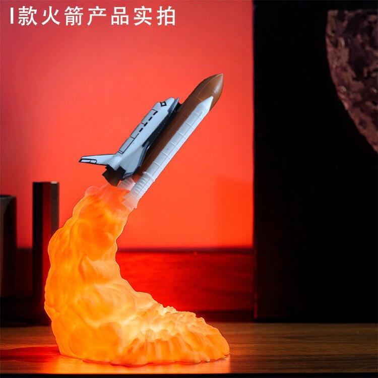 Estranho novo 3d impressão foguete luz saturno