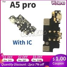 Wyieno עבור UMIDIGI A5 פרו USB טעינת Dock נמל מטען אודיו שקע תקע להגמיש כבל מיקרופון מיקרופון מחבר לוח