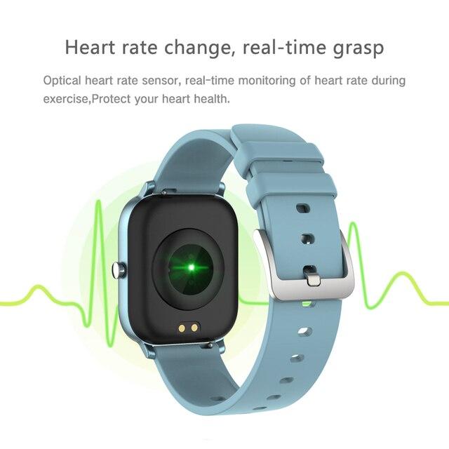 COLMI P8 1.4 pouces montre intelligente hommes pleine touche Fitness Tracker tension artérielle horloge intelligente femmes GTS Smartwatch pour Xiaomi 4