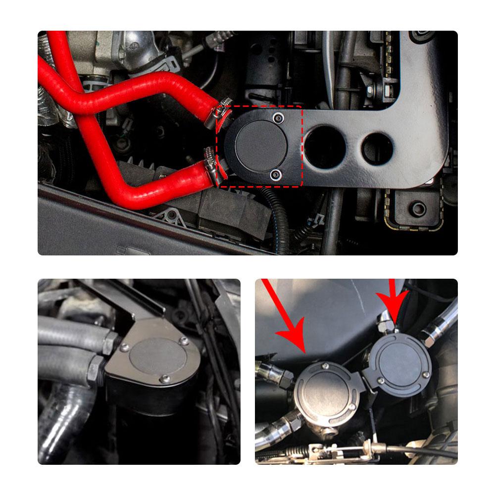 Image 2 - RYANSTAR 2 порта маслоуловитель БАК топливный бак гоночный озадаченный с дренажным клапаном 150 мл воздушный масляный сепаратор Универсальный черный анодированный-in Топливные баки from Автомобили и мотоциклы