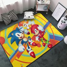 Carpets Area-Rug Bedroom Sonic Living-Room Cute Floor-Mat Customized Printed Kids 3D