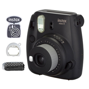Image 3 - Fujifilm Instax Mini 9 Film Instant Kamera Trauben Rosa Schwarz + 20 Blätter Mini 8 Weiß Filme + Abdeckung + album + 10Pcs DIY Kits