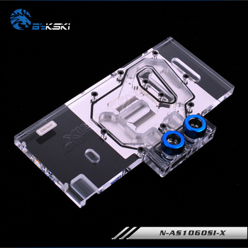 Bykski Full cover gpu cooler for ASUS GTX 1060 O3G GAMING/ASUS GTX 1060 -O3G-LOL gpu water cooling block N-AS1060SI-X image