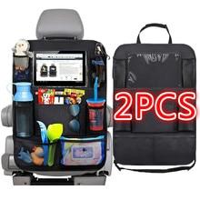 Organisateur de dossier de siège de voiture, 9 poches de rangement avec protection d'écran tactile pour enfants, accessoires de voiture, 1 pièce/2 pièces