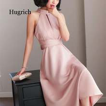 Beauty fashion hanging neck dresses strapless elegant bow party