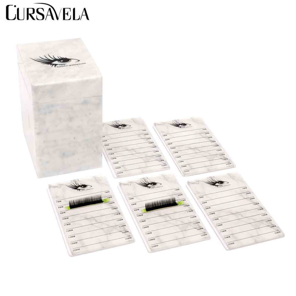 Cursavela 5 Layers Transparent Eyelash Extension Storage Box Display Acrylic Lash Pallet Holder Case Grafting Eyelash Container