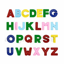 1pc A-Z colorful Plain English letter paint Alphabet Internal Dia: 8mm Slide Letter charms Fit DIY key chain Bracelet Pet Collar(China)