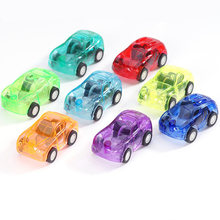 Plastic Racing Mini Cars Cartoon Party Vehicle Racer Bus Giveaways Back Birthday Model Boys Children Gifts Truck Bag Baby Pull(China)
