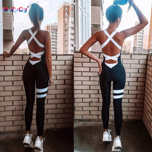 Conjunto macacão feminino cintura alta, conjunto esportivo academia corrida justo