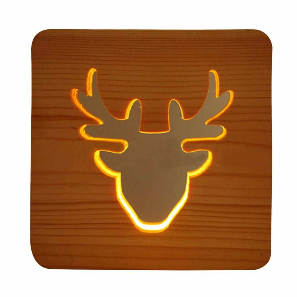 Kreatif Kerajinan Dekorasi Lampu Kayu LED Lampu Malam Light DROP Shipping Independen Stasiun Supplier Festival
