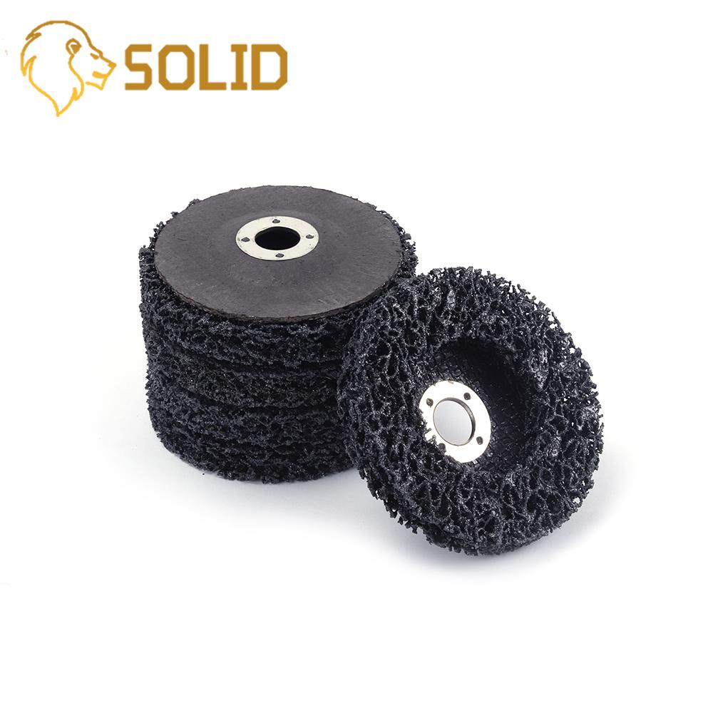 5Pcs 4 Poly Strip Disc Wheel Paint Rust Removal Clean For Angle ...
