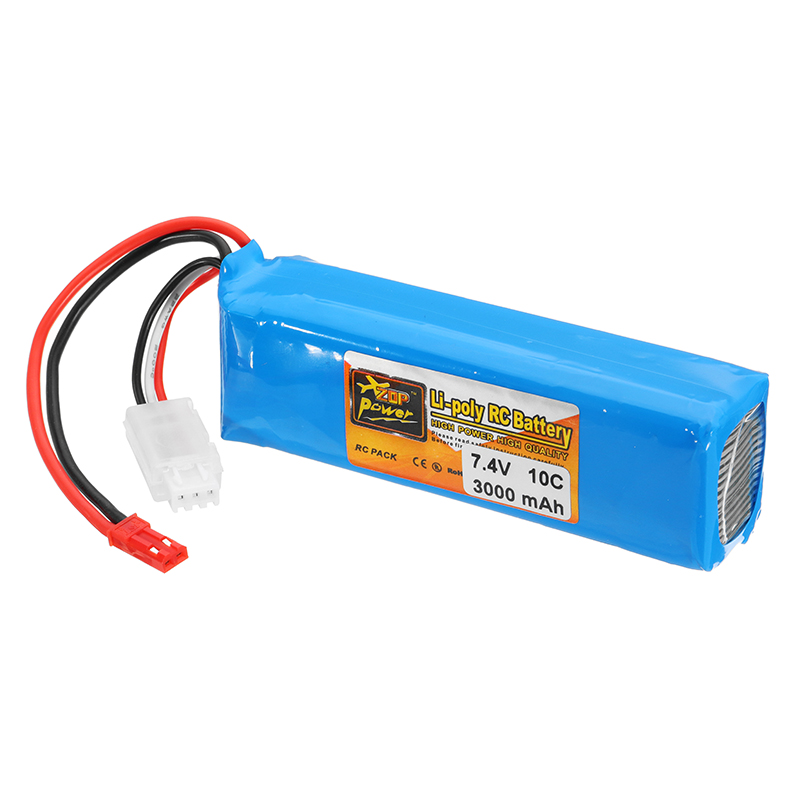 ZOP Power 7.4V <font><b>2S</b></font> <font><b>3000mah</b></font> 10C <font><b>Lipo</b></font> Battery Rechargeable For Frsky Taranis X9D Plus Transmitter Spare Parts Remote Controller image
