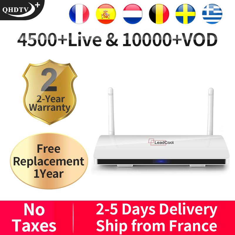 Leadcool QHDTV Plus IPTV France Arabic Android 8.1 1G+8G/2G+16G IPTV France Arabic <font><b>Belgium</b></font> French QHDTV Plus Arabic IPTV France image