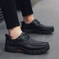 Genuine Leather Shoes Men Casual Shoes lace up Male Outdoor oxfords Men Flats Walking Lace-up Man shoes Footwear big size 48 1