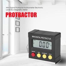Horizontal Angle Meter Digital Protractor Inclinometer Electronic Level Box Magnetic Base Measuring Tools цена 2017