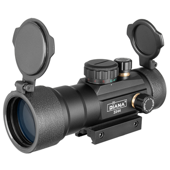DIANA 3X44 Green Red Dot Sight Scope Tactical Optics Riflescope Fit 11/20mm rail Rifle Scopes for Hunting 2