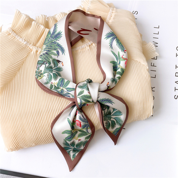 2020 Women Silk Scarf Print Female Luxury Skinny Hair Neck Scarves Lady's Bag Tie Ribbons Headband Accessories Summer New - discount item  34% OFF Scarves & Wraps