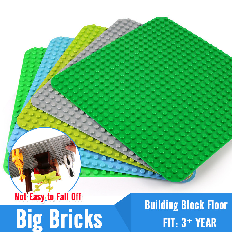 768 Duploe Big Bricks Base Plate 16*32 24*24 32*24 Dots <font><b>Baseplate</b></font> DIY Building Blocks Toys For Children Compatible Duplos 5Color image