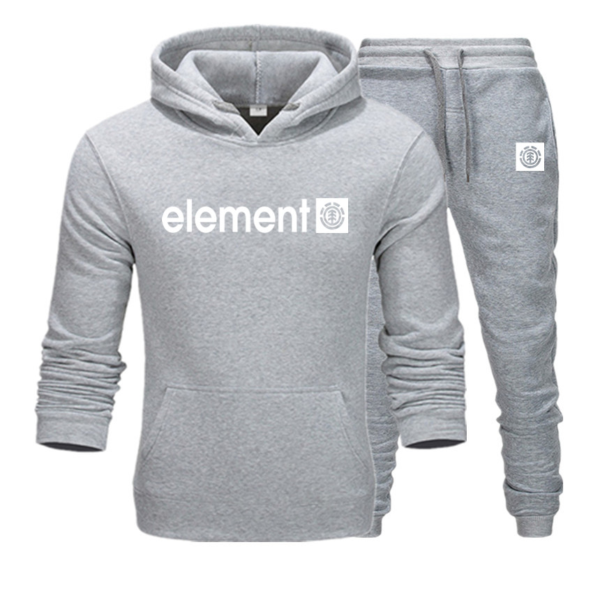 Men Hoodie Print Elemnl  Sweatshirt Women/men Casual Suit+Sweatpants Sweatshirts Keep Warm Hoodie Men's Clothing  Long Sleeve