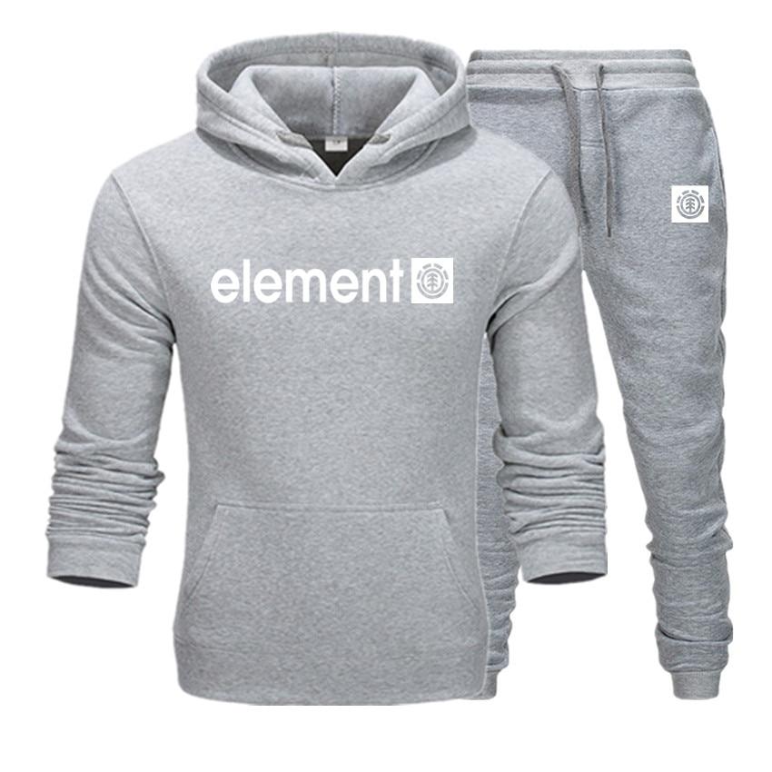 Men Hoodie Print Elemnl  Sweatshirt Women/men Casual Suit+Sweatpants Sweatshirts Keep Warm Hoodie Men's Clothing  Long Sleeve