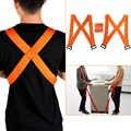 4 adet/takım kolay taşıyıcı omuz askıları hareketli kayış taşıma halatı ev hareket ev temizlik mobilya taşıma kemer