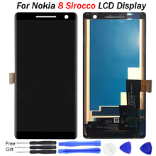 5.5For Nokia 8 Sirocco LCD Display Screen with Touch Screen Digitizer Assembly Replacement Parts Free Shipping For Nokia 8S LCD lcd display screen replacement fo prestigio multipad 8 0 hd pmt5587 wi tablet lcd display free shipping