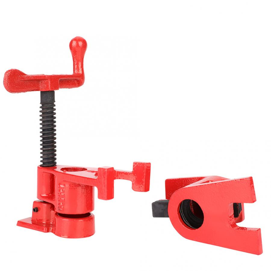 Image 4 - 4 Set 3/4'' Quick Release Heavy Duty Wide Base Iron Wood Metal Clamp Set Woodworking Workbench-in Clamps from Home Improvement