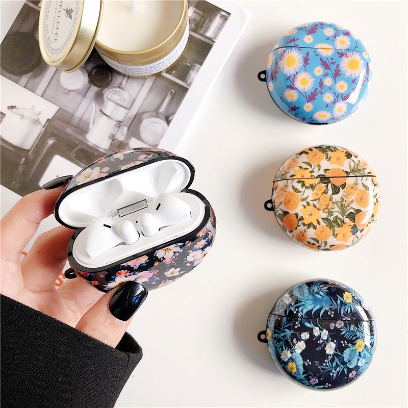 Retro Flower Soft Case For Huawei Freebuds 3 Headset Protection Cover Fashion IMD Silicone Capa For Freebuds Three Earphone Case