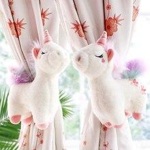 2pcs Unicorn Window Curtain Hook Straps  Bedroom Buckle Hangers Belt Tieback Buckle Kids Children Bedroom Decorative Accessories