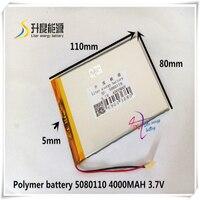 5080110 4880110 3.7V baterias de polímero de lítio 4000mah bateria universal marca tablet PC