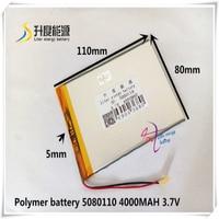 5080110 4880110 3.7V lityum polimer piller 4000mah evrensel pil marka tablet PC