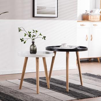 Proste nowoczesne stoliki na kanapę stoliki do sypialni Nordic drewniany stolik kawowy balkon stolik kawowy meble kuchenne tanie i dobre opinie CN (pochodzenie) Z tworzywa sztucznego China 55*60cm Europa i ameryka ALIEN Samowystarczalny