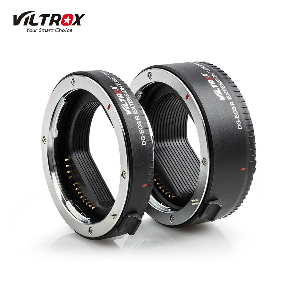 Viltrox DG-EOSR kit d'adaptateur de Tube d'extension électronique Portable (12mm + 24mm) pour objectif de montage Canon EOS R