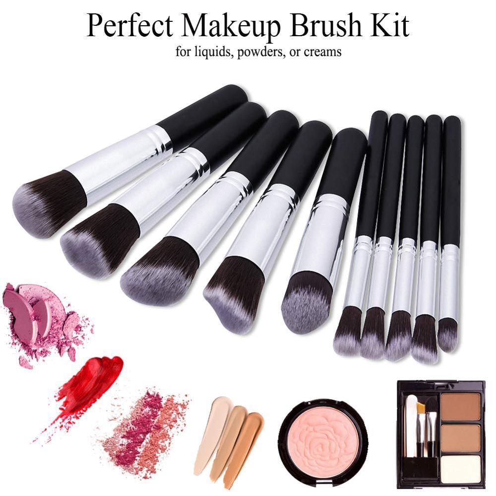 Makeup Brushes tool set 10pcs Professional Powder Foundation Eyeshadow Make Up Brushes Cosmetics Soft Synthetic Hair 1