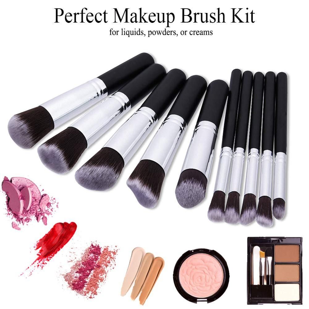 Image 2 - Makeup Brushes tool set 10pcs Professional Powder Foundation Eyeshadow Make Up Brushes Cosmetics Soft Synthetic Hair-in Eye Shadow Applicator from Beauty & Health