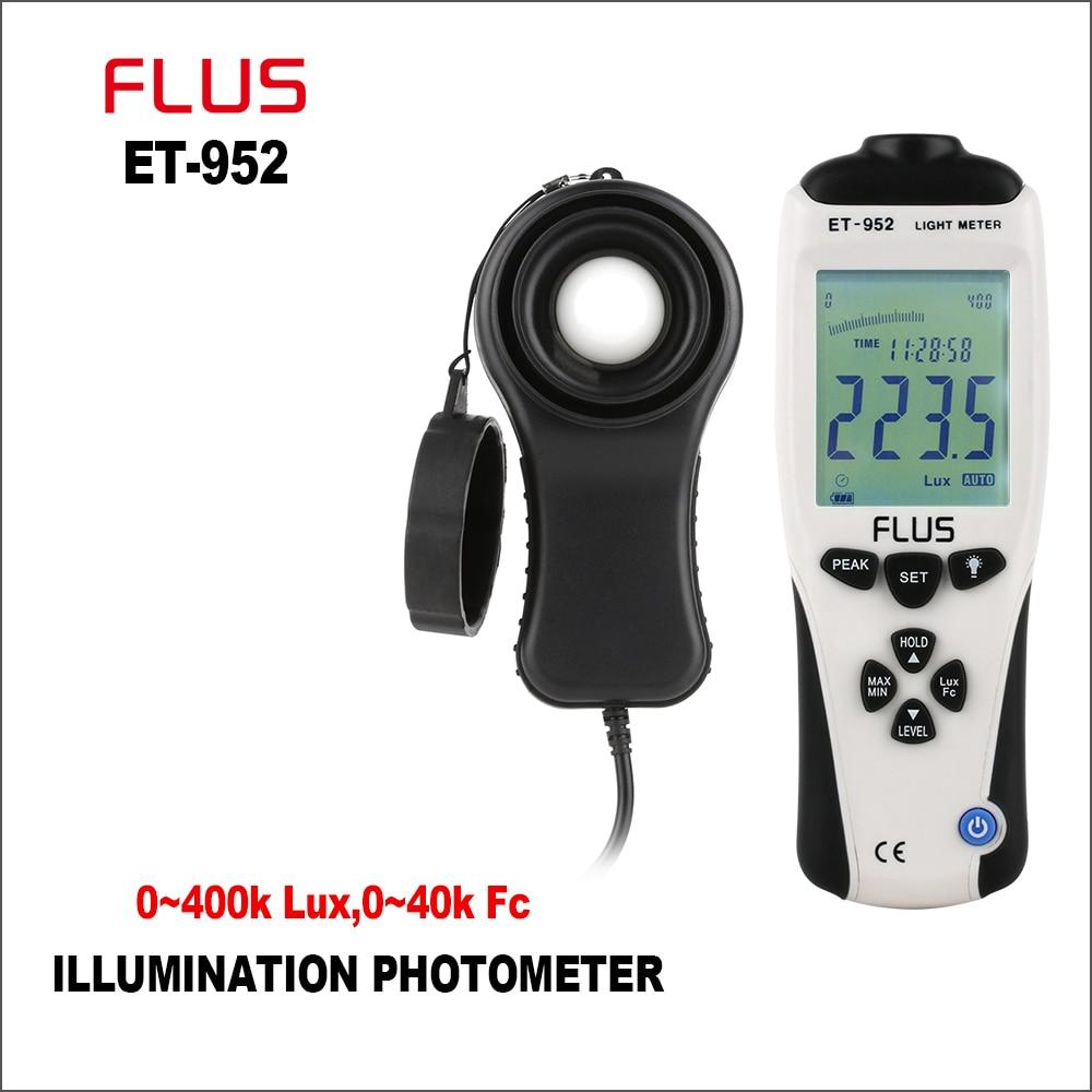 FLUS Digital Light Luxmeter Meter Professional Lux Mini Illuminometer Luminometer Photometer Lux/FC Tester Light Meter