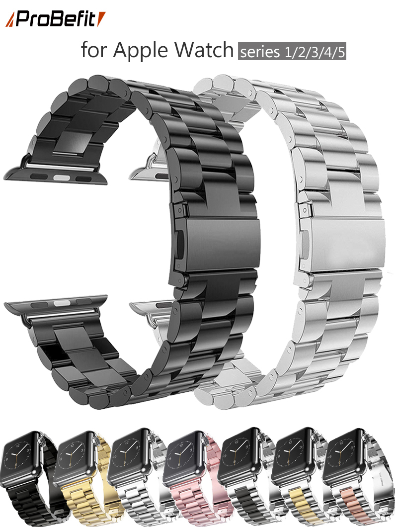 Probefit Stainless-Steel-Strap Bracelet-Band Iwatch-Series 40mm for Apple 42mm 38mm 1/2/3/4