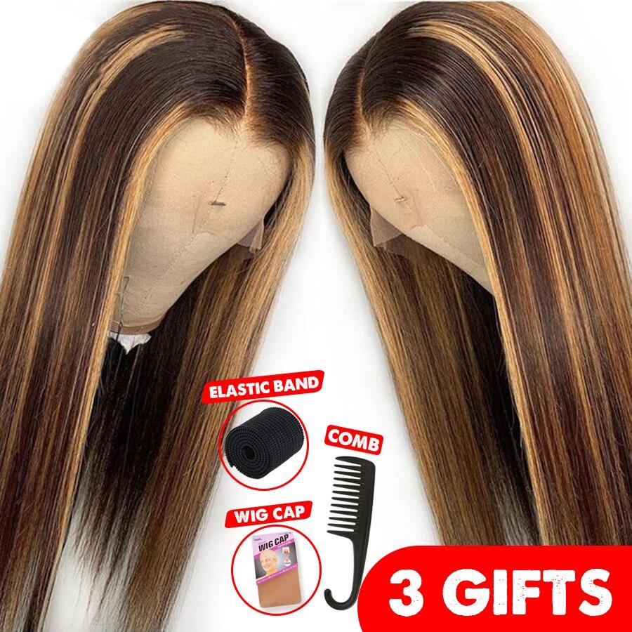 13*6 глубокая часть фронта шнурка человеческих волос парик прямой Выделите цвет волос предварительно выщипанные волосы линия отбеленные узл...