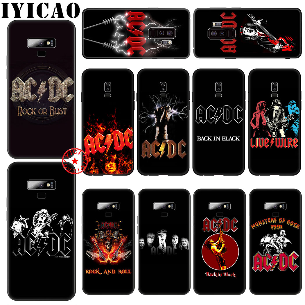 acdc rock or bust Soft Silicone Case for Samsung Galaxy A70S A20E A2 J4 J6 Core Plus Prime J7 Duo J8 TPU Cover