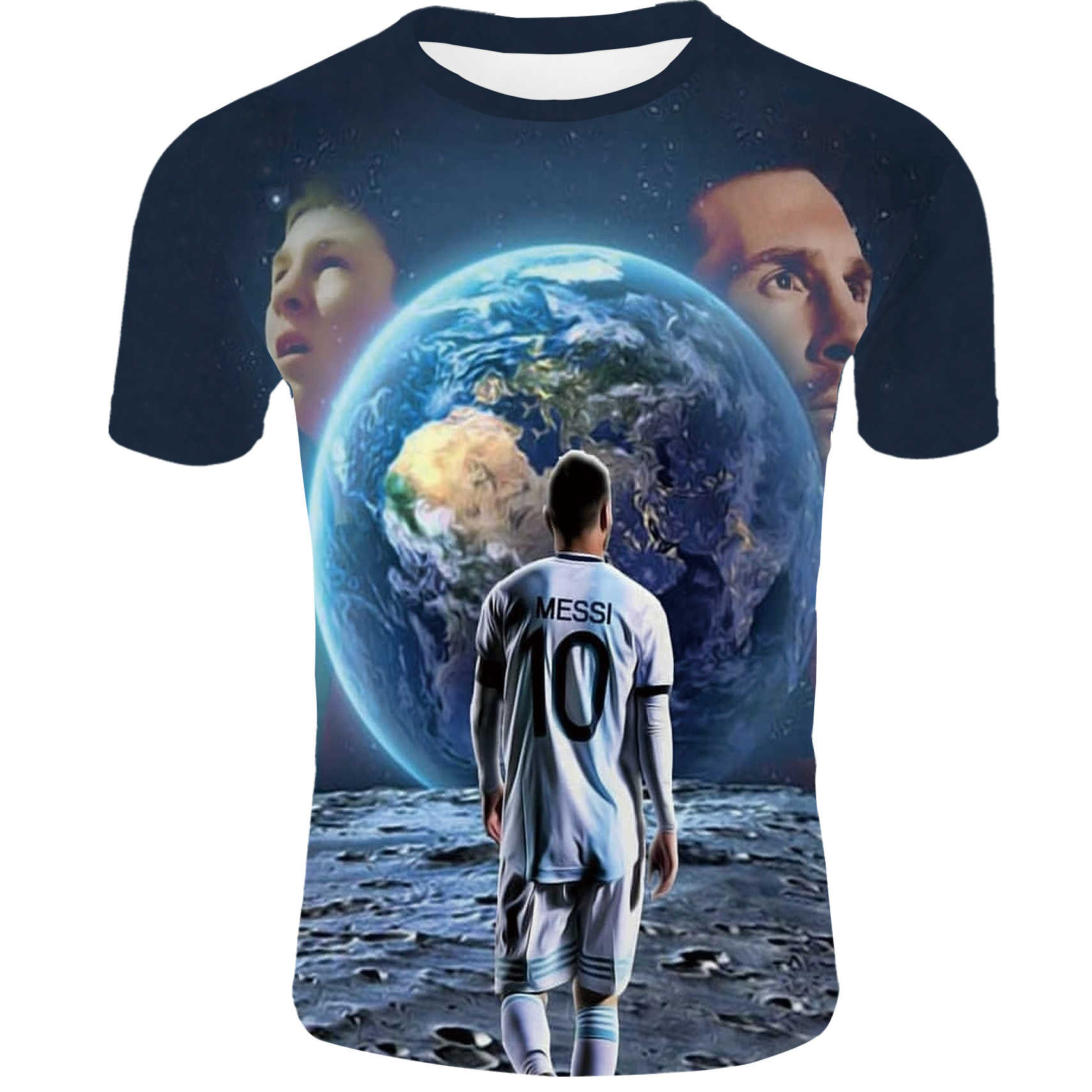 online store 66231 3efe2 2019 summer new men's / women's T-shirt Messi Barcelona T-shirt jersey 3D  print punk clothing street fashion T-shirt topsXXS-4XL
