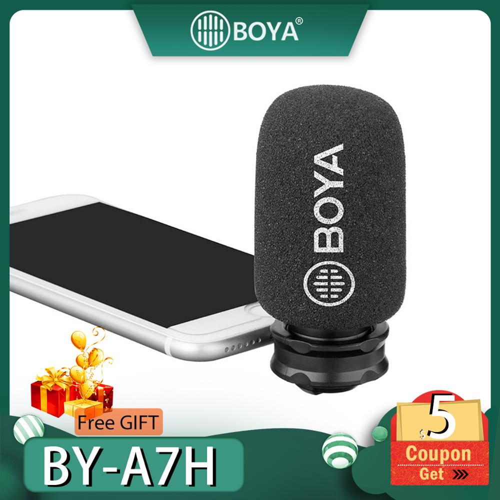 BOYA By-A7H Mic 3.5Mm Jack Phone Microphone Digital Stereo Condenser Mobile Record Port Recording Interview F
