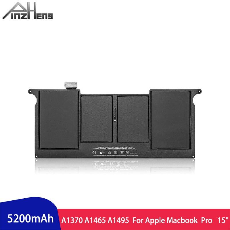 PINZHENG 5200mAh Laptop Battery For Apple Macbook Air 11 A1495 A1370 A1465 Laptop Bateria With Screwdrivers Tools Laptop Battery