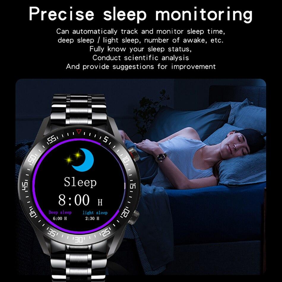 Hcb90df1e15cc4a16a9a2ab8bc7a545fd7 LIGE 2021 New Full circle touch screen Mens Smart Watches IP68 Waterproof Sports Fitness Watch Man Luxury Smart Watch for men