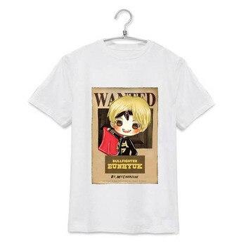 KPOP Super Junior SJ SuJr camisetas de álbum de dibujos animados Casual algodón camiseta Camiseta de manga corta Camisetas JCF057