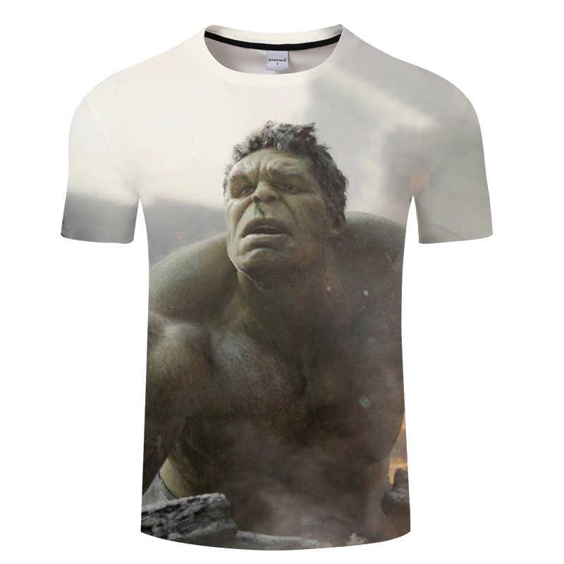 Nova Moda Superhero Hulk Impresso T-Shirt Das Mulheres Dos Homens Do Projeto Vingadores Camiseta Homme Verão de Manga Curta T Topos